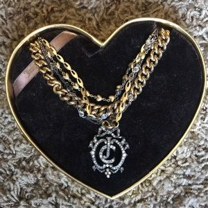 Juicy couture layered necklace